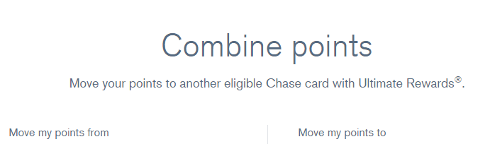 How To Combine or Transfer Chase Ultimate Rewards Points Between Accounts