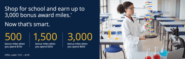 bonus miles back to school united mileage plus online shopping portal 3000 bonus miles