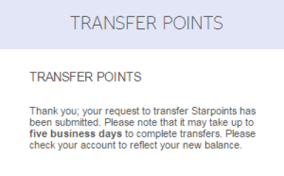 how to transfer spg points to another member