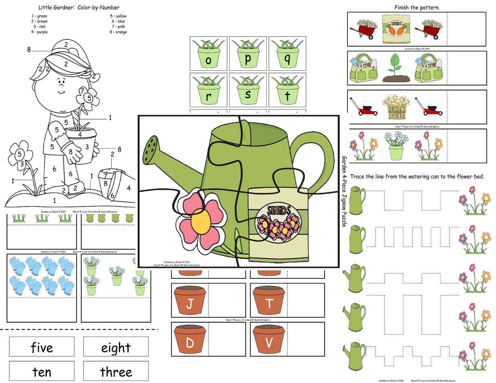 Garden Worksheet Amp Activitypack Byelaine Sample The