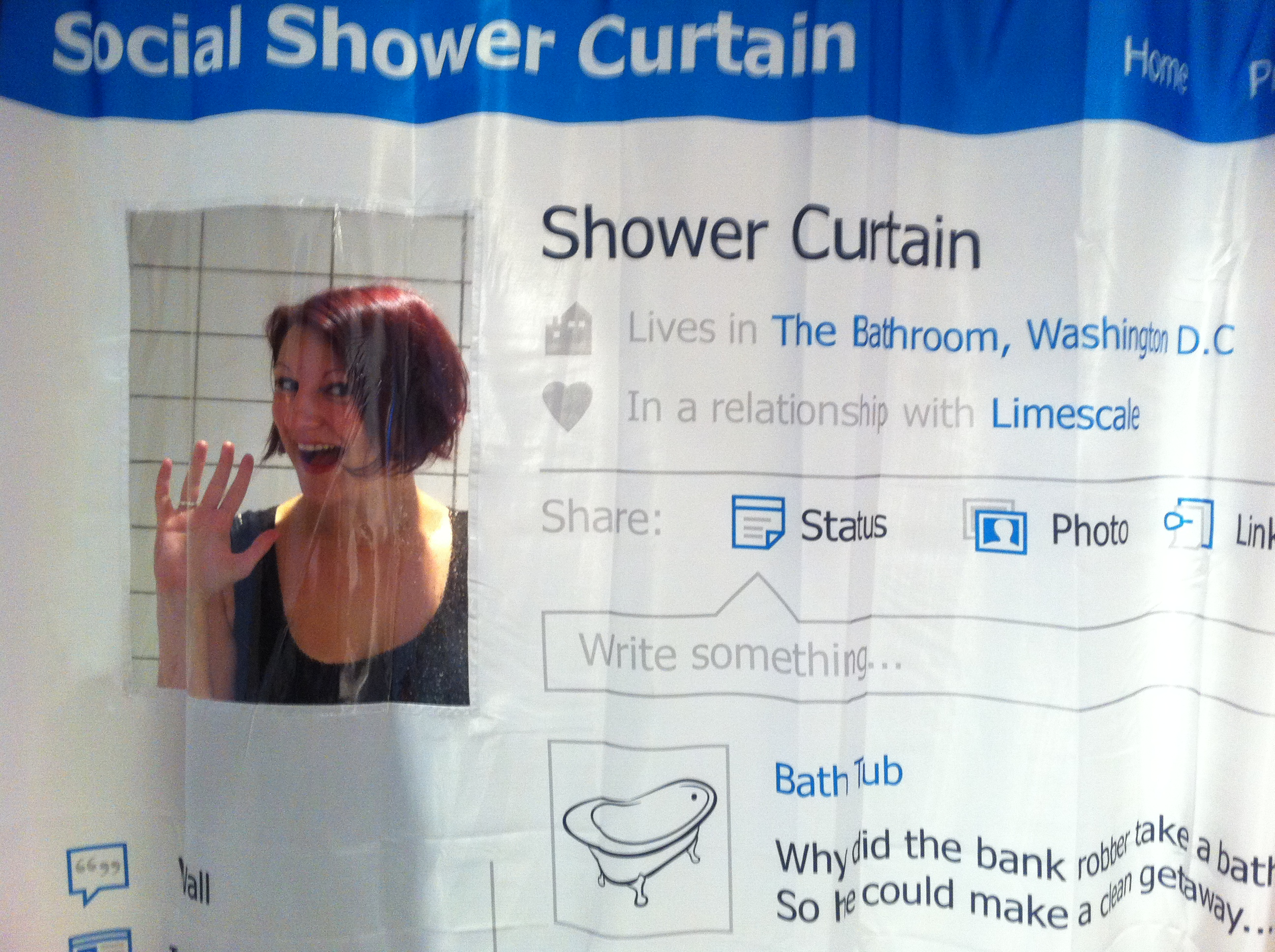 Exceptional Social Media Shower Curtain The Treasure Hunter Well Designed