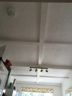 The kitchen ceiling before