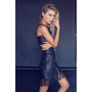 Vegan leather fashion by @delikaterayne