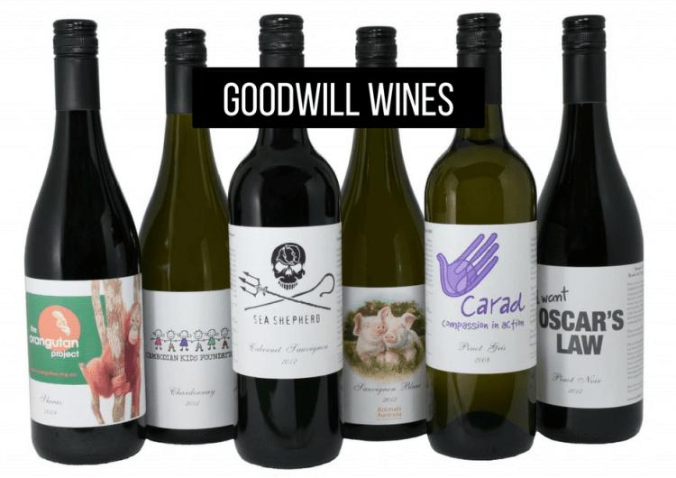 Goodwill vegan wines Australia