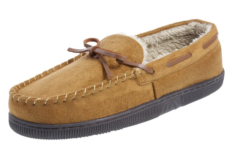 side view of brown Airwalk Charles Mac Vegan Slippers