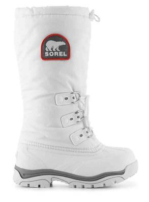 sorel white snowlion vegan winter boots