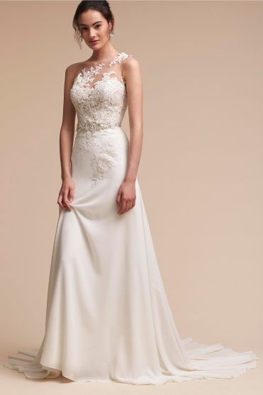 BHLDN vegan bridal gown wedding lace