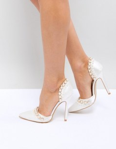 asos vegan non-leather wedding bridal shoes heels-1-ivory