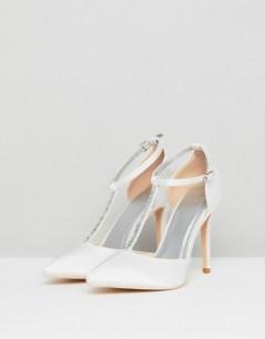 asos vegan non-leather wedding bridal shoes heels