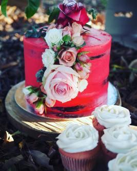 floral vegan wedding cake brisbane australia veganyumm