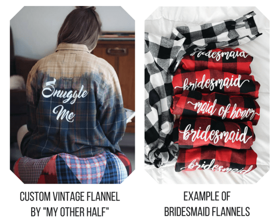 my other half esty bridesmaid proposal gift flannels