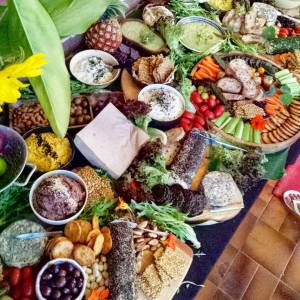 organic passion vegan catering australia cheese platter