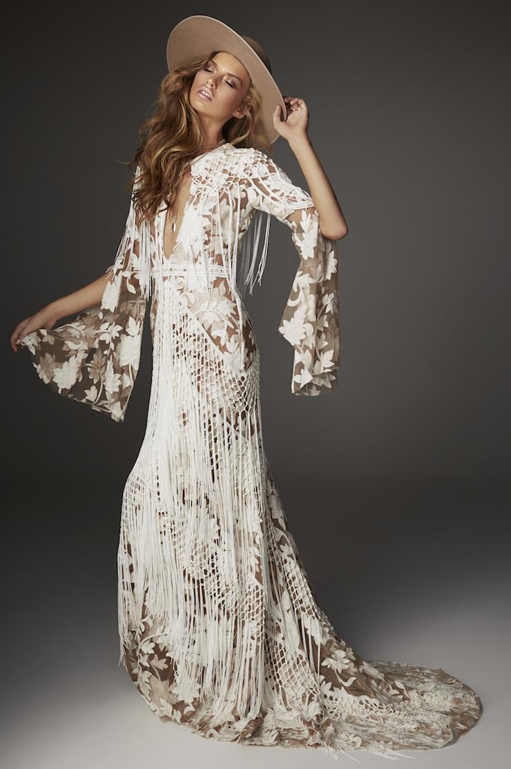 rue de seine vegan wedding dress dakota gown large