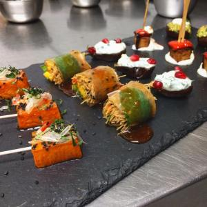 vegan canape platter wedding cashew catering