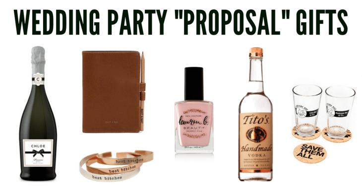 vegan wedding guide bridesmaid groomsman proposal gifts
