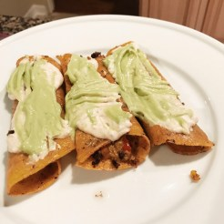 Final (not photogenic) taquitos result!