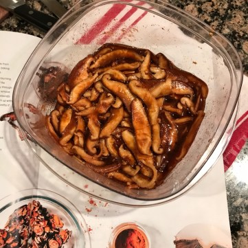 Marinated mushrooms for bacon