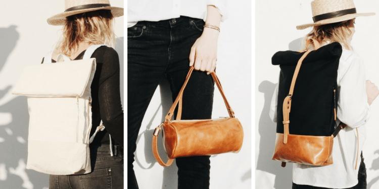 eve and adis vegan duffle bag backpacks pinatex