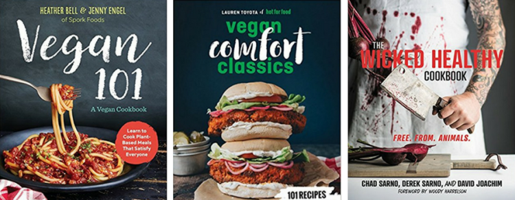 vegan gifts plant-based cookbooks vegan 101 vegan comfort classics wicked healthy cookbook