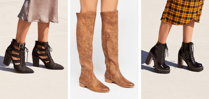 vegan boots free people autumn fall booties otk