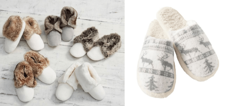 vegan slippers faux fur pottery barn