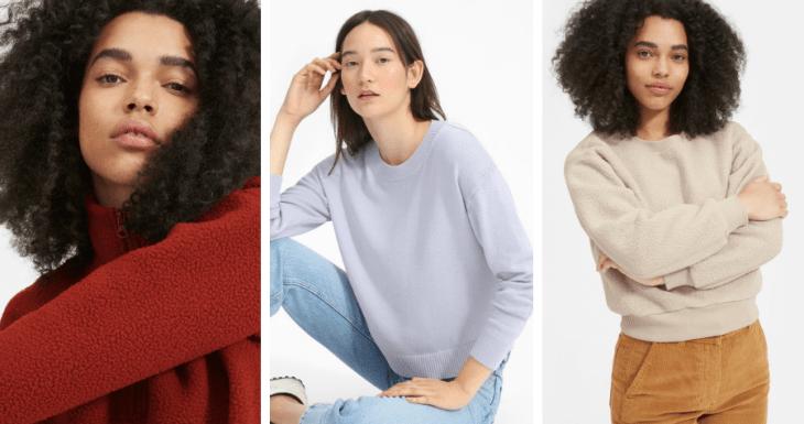 eco-friendly vegan sweaters sweatshirts everlane 2018