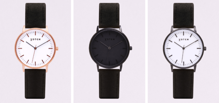 sustainable vegan gifts 2018 votch eco-friendly watches