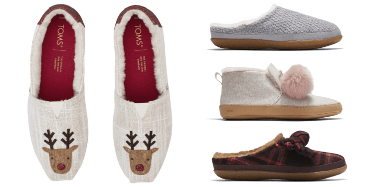 Toms vegan slippers with faux shearling lining
