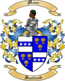 Moor Family Crest From Scotland By The Tree Maker