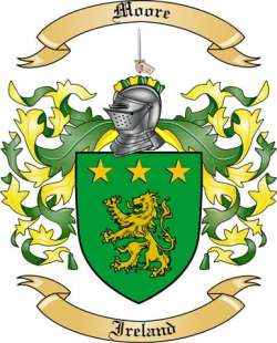Moore Family Crest From Ireland By The Tree Maker