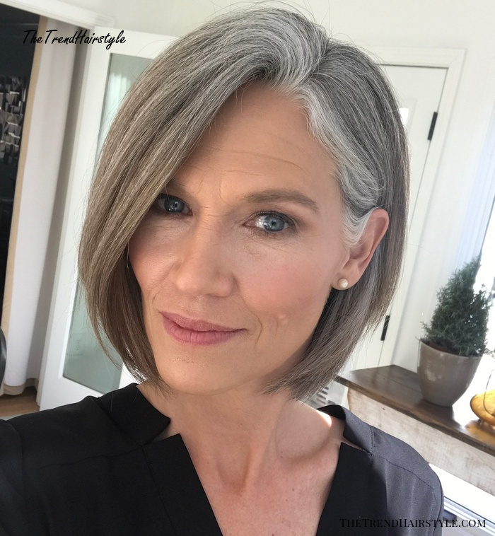 Gray And Layered 60 Gorgeous Hairstyles For Gray Hair The