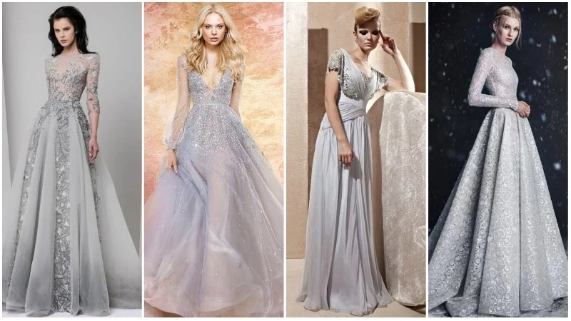 Stunning Silver Wedding Dresses That'll Make You Shine