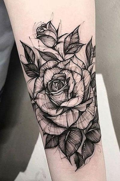 Roses Tattoo Black And White : roses, tattoo, black, white, Gorgeous, Tattoo, Ideas, Women, Trend, Spotter
