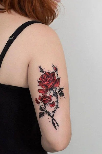 Roses With Thorns Tattoo : roses, thorns, tattoo, Gorgeous, Tattoo, Ideas, Women, Trend, Spotter