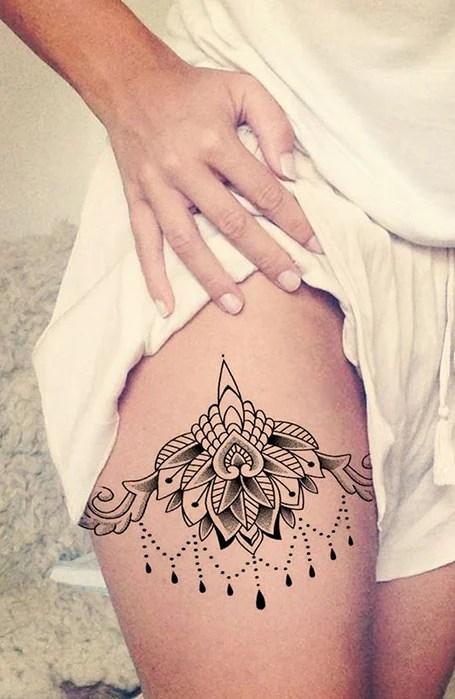 Mandala Garter Tattoo : mandala, garter, tattoo, Thigh, Tattoos, Women, Trend, Spotter