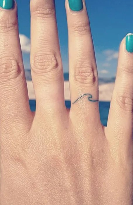 Finger Wave Tattoos : finger, tattoos, Finger, Tattoos, Ideas, Trend, Spotter
