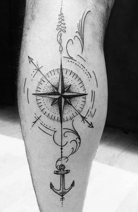 Star Compass Tattoos : compass, tattoos, Compass, Tattoos, Trend, Spotter