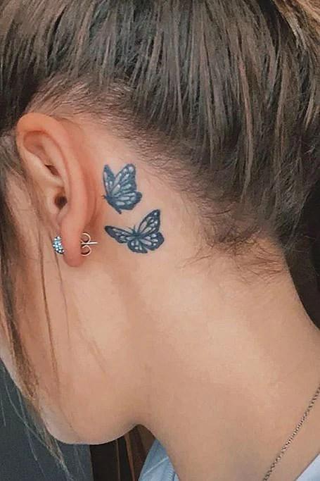 Dragon Tattoo Behind Ear : dragon, tattoo, behind, Behind, Tattoos, Women, Trend, Spotter