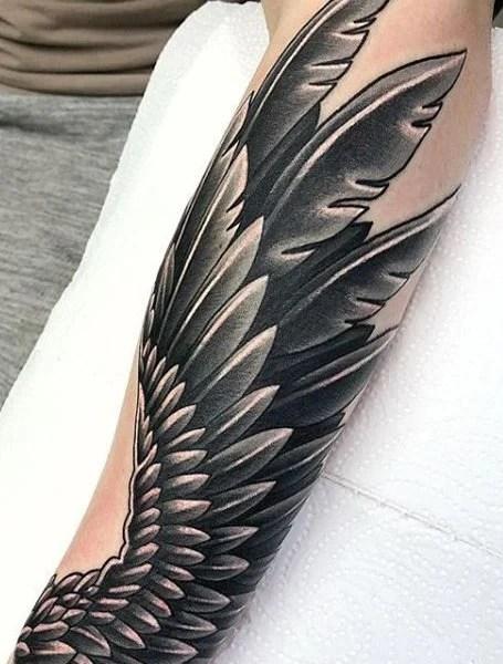 Angel Wings Sleeve Tattoos : angel, wings, sleeve, tattoos, Angel, Tattoos, Trend, Spotter