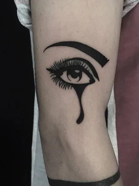 Crying Eye Tattoo : crying, tattoo, Tattoos, Vigilant, Trend, Spotter