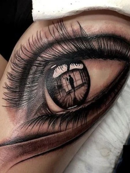 Crying Eye Tattoo - TattManiaTattMania