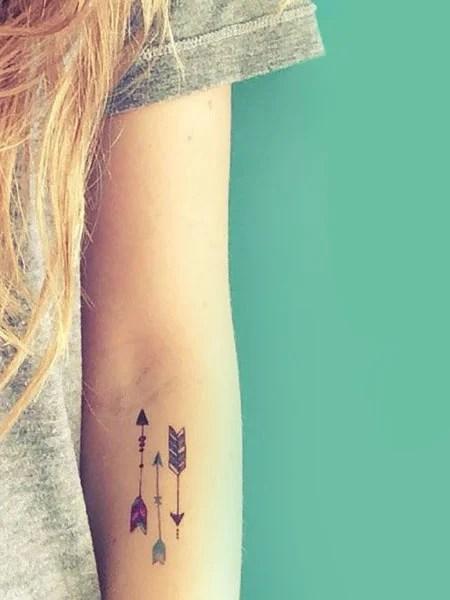 3 Arrow Tattoo : arrow, tattoo, Striking, Arrow, Tattoos, Women, Trend, Spotter