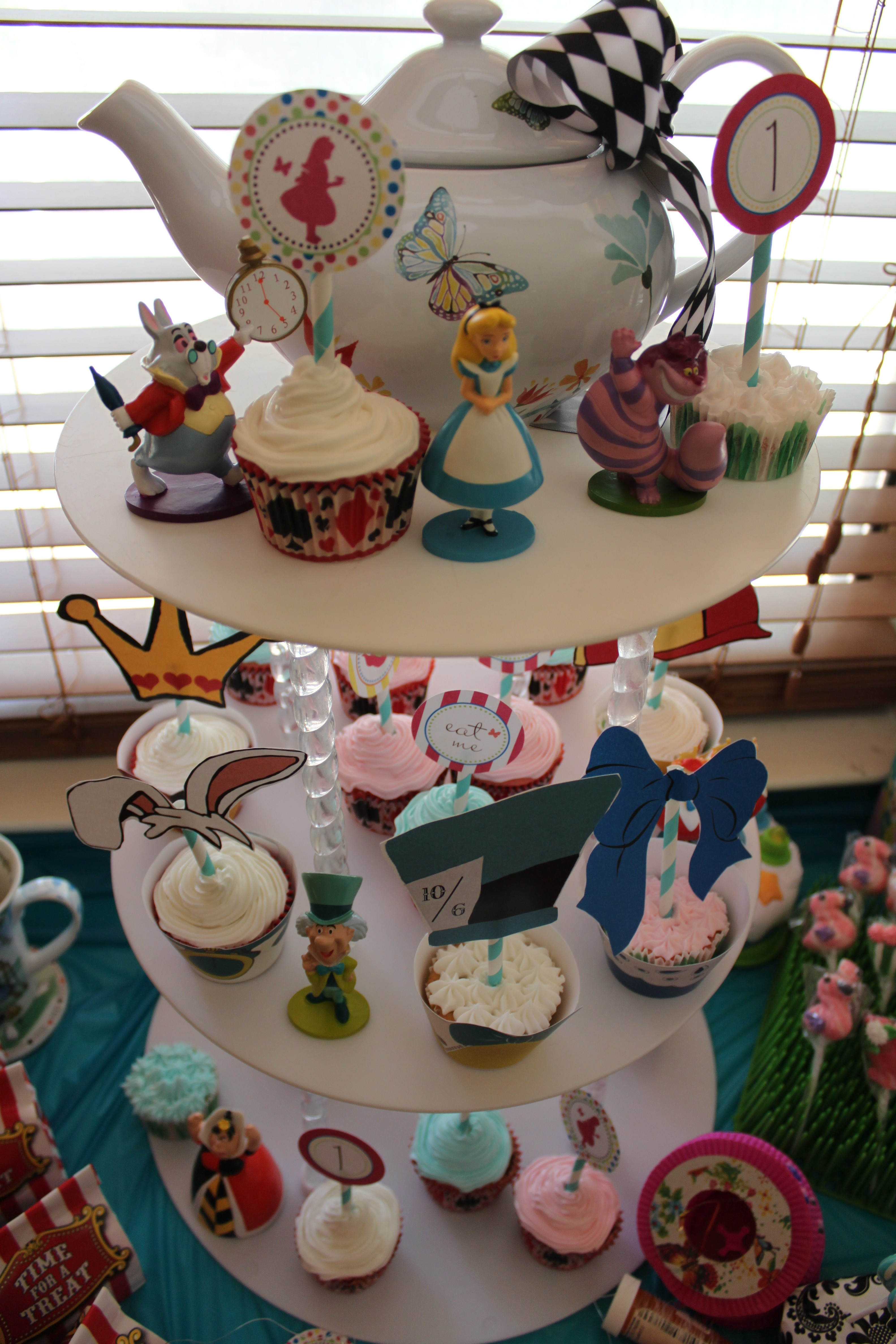 "One Year Old Birthday Party Alice In ""One""derland Theme"