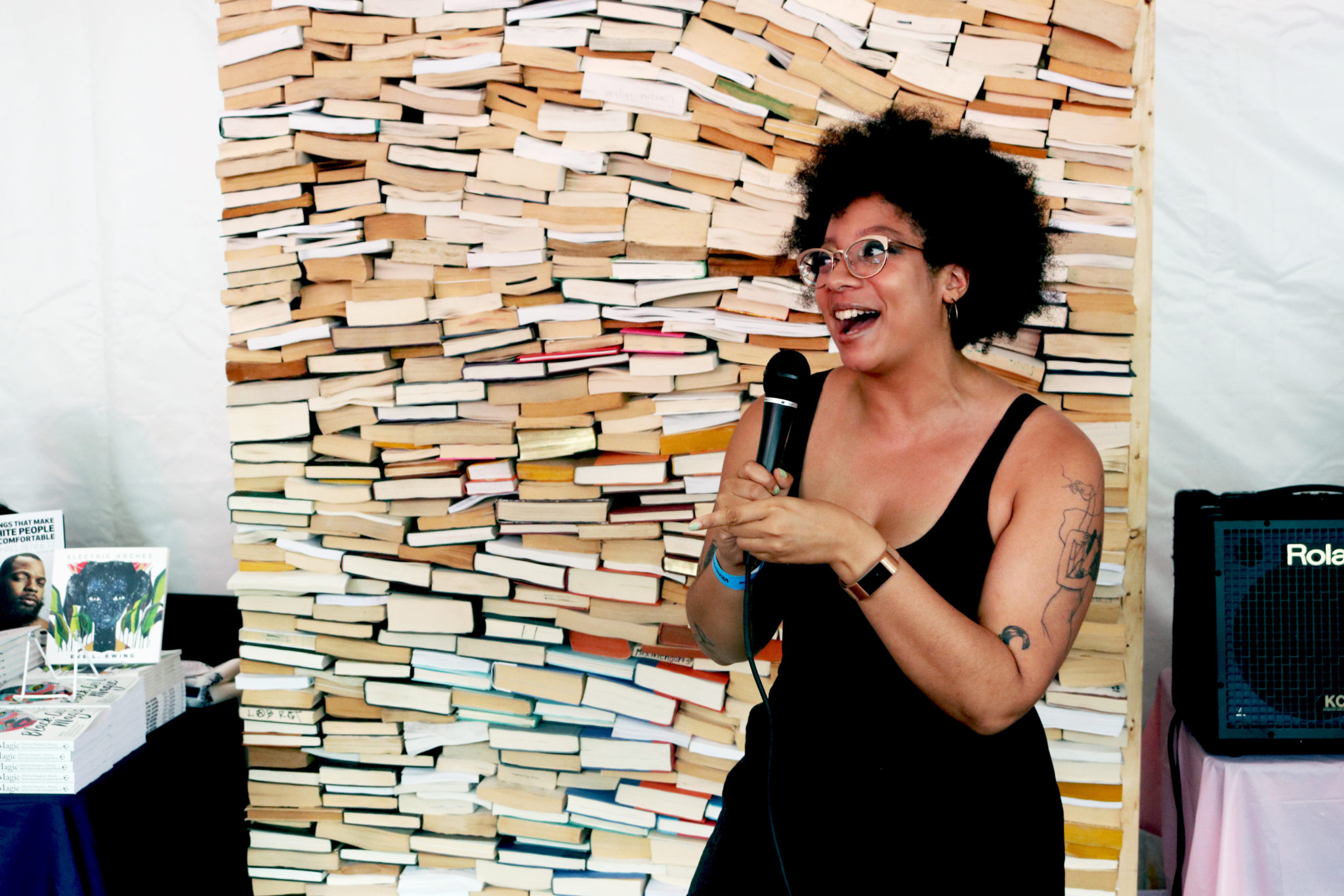 Ashley Ray with the laughs at Bookfort   Photo by Morgan Elise Johnson (The TRiiBE)
