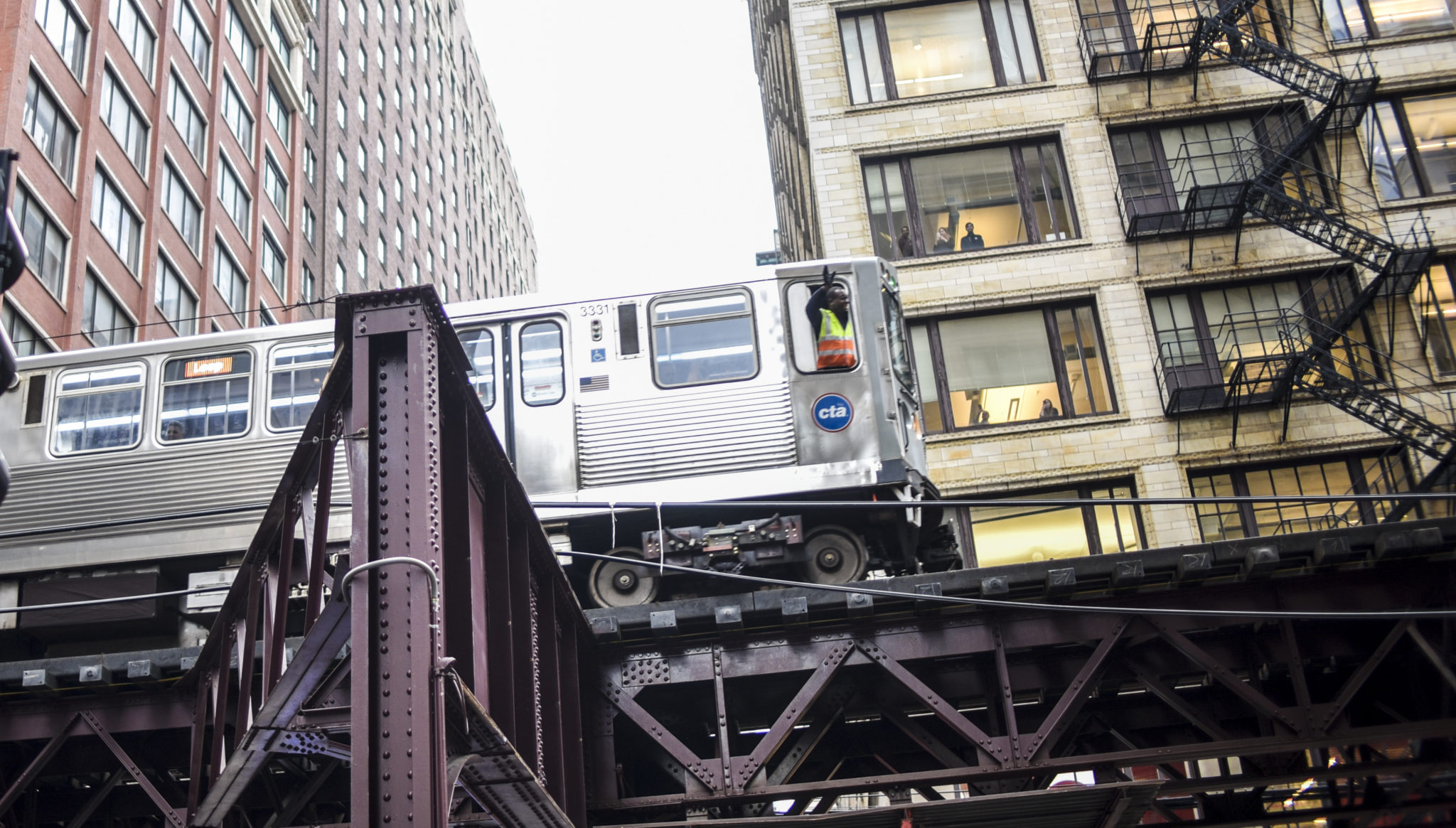 Even the El conductor is happy to see justice for Laquan McDonald.