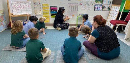 Kindergarten Class Using the Charlotte Mason Method of Education at The Trinity School