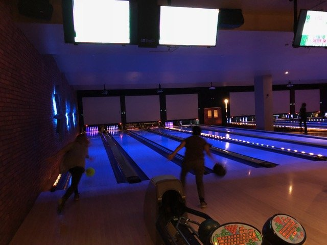 bowling at Lucky Strike to earn frequent flier miles