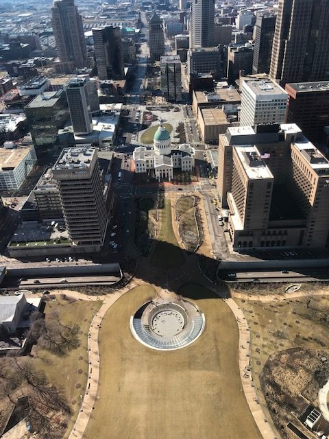 View from Gateway Arch in St. Louis