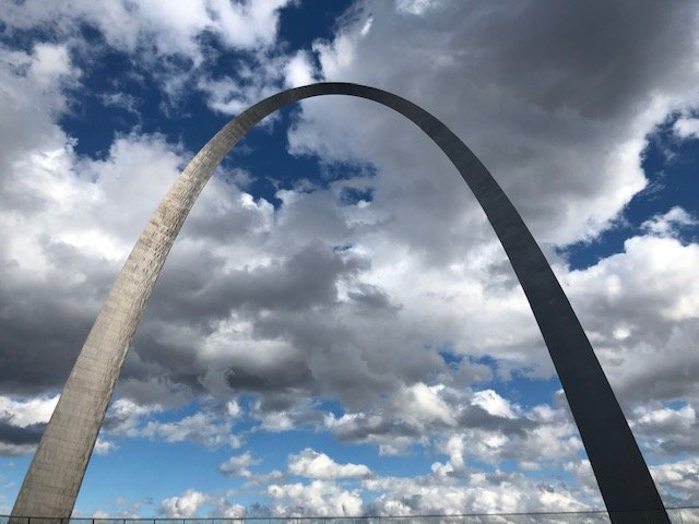 View of the Gateway Arch in St. Louis