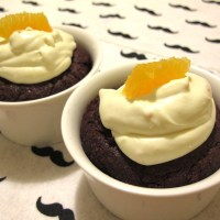 Date Night In : Chocolate Thyme Cake with Orange Cream
